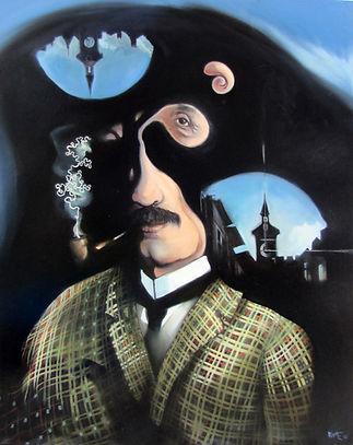 Peinture, portrait, Sherlock Holmes, Suisse