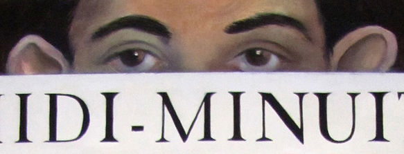 Peintue, autoportrait, yeux
