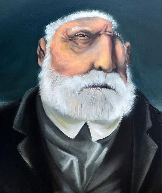 Victor Hugo à Guernesey, portrait, peinture à l'huile