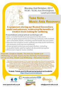 Take Note - Music Aids Recovery Flyer.jp