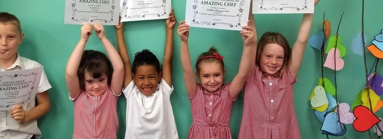 Children with cooking certificates