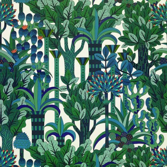Papier-Peint Hermès - Jardin d'Osier
