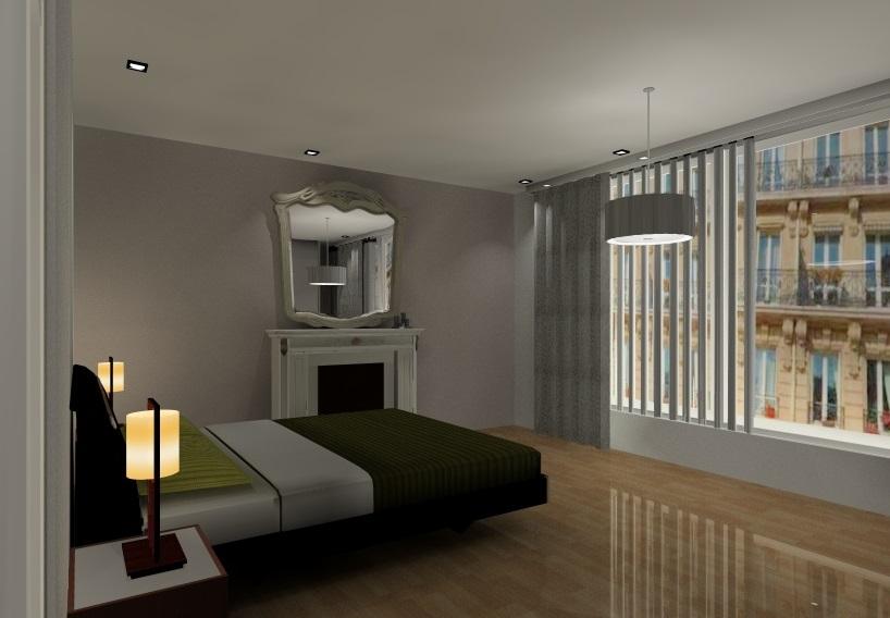 Appartement haussmannien - Chambre