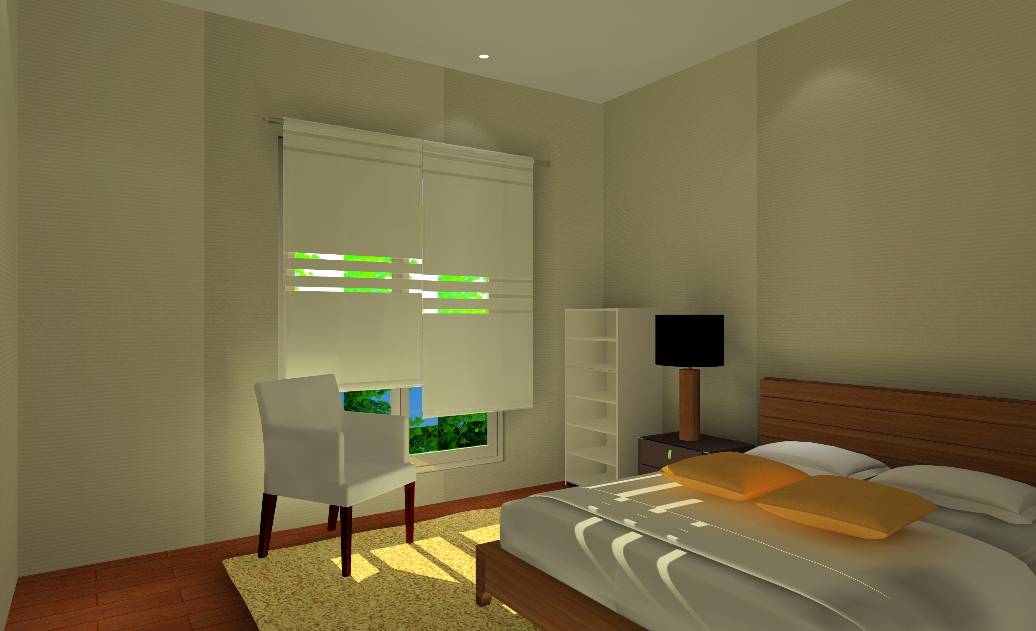 Une chambre modernisée