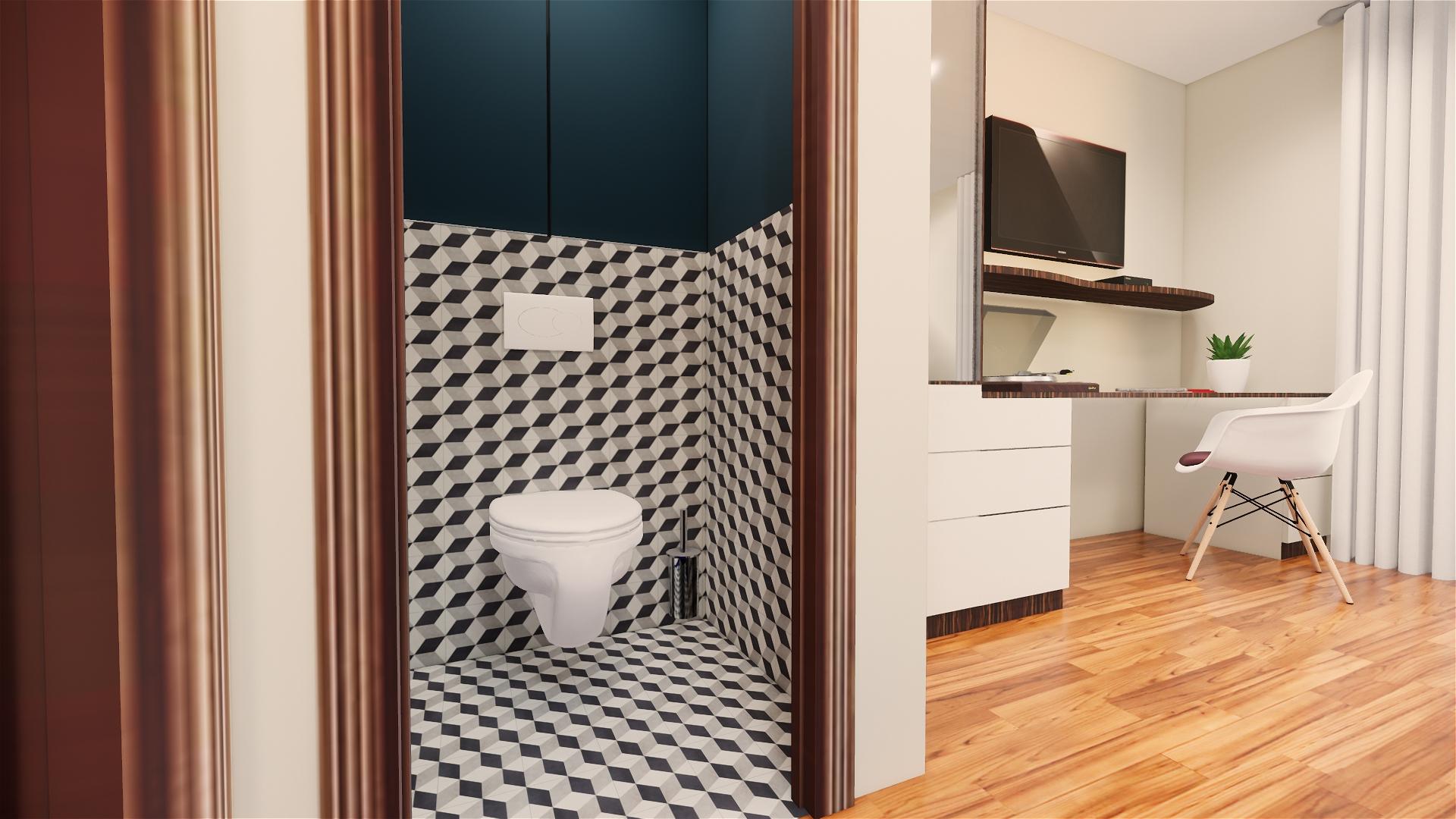toilettes indépendantes studio