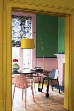 murs de couleurs différentes
