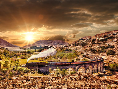 Glenfinnan Railway Viaduct In Scotland W