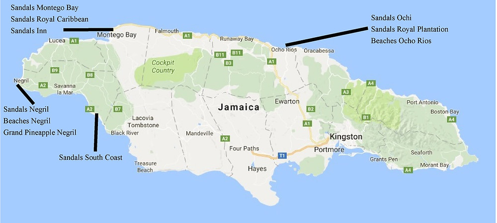 Jamaica resort locations