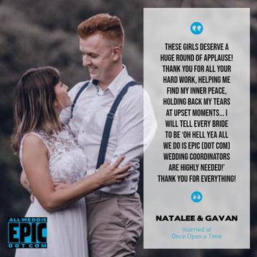 Testimonial - Natalee & Gavan