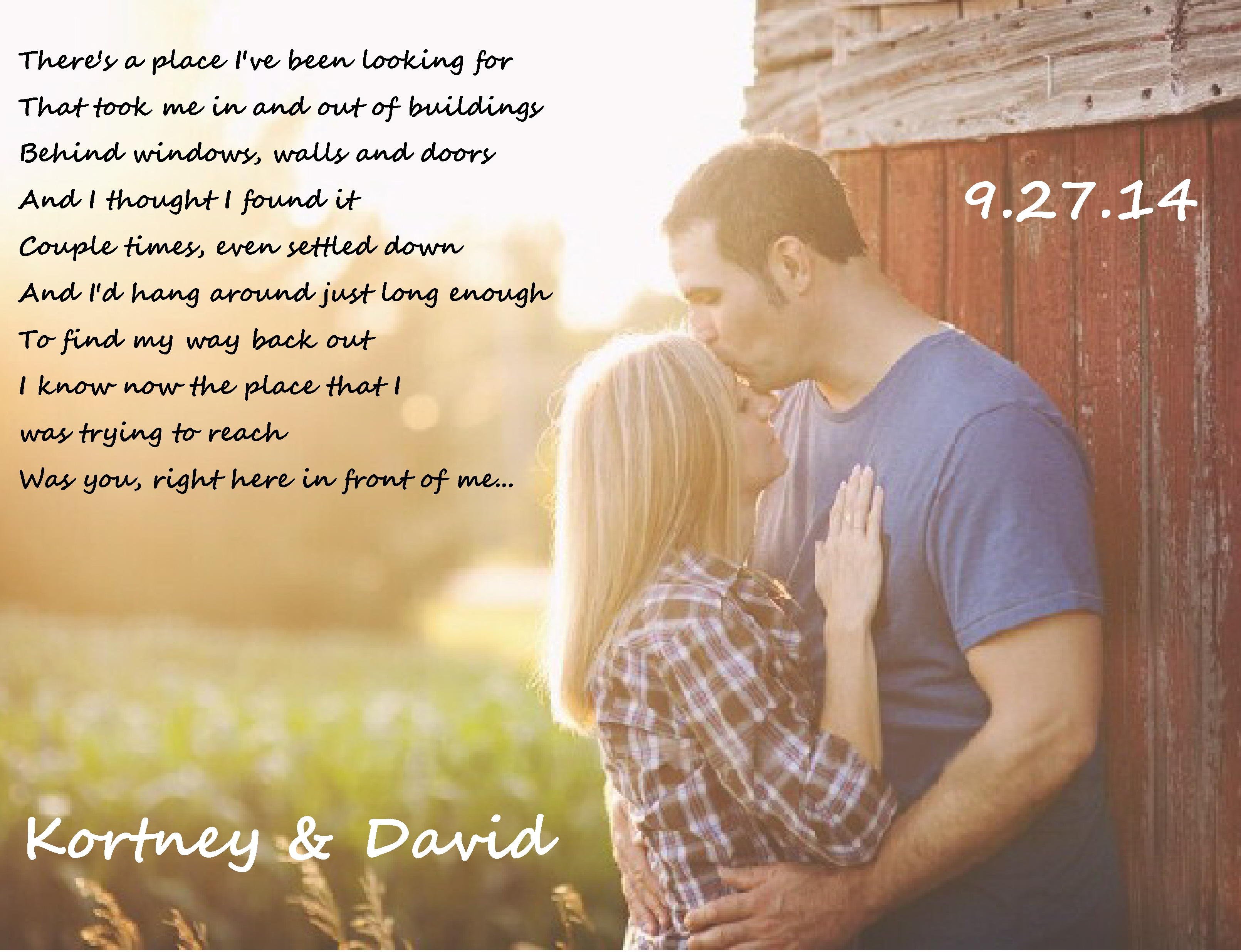 9-27-14 Kortney & David