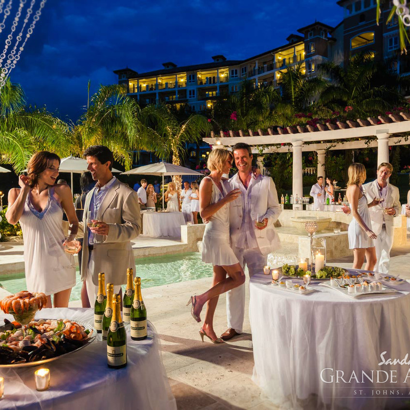 Sandals white party