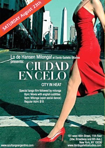 HANSEN MILONGA AUGUST 23TH - MANHATTAN