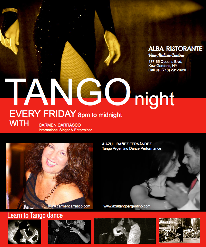 EVERY FRIDAY TANGO ARGENTINO DANCE PERFORMANCE AT KEW GARDENS, NY