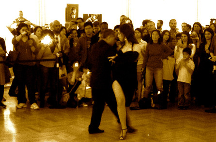 Azul as guest tango dancer in Argentinian Embassy, Washington DC