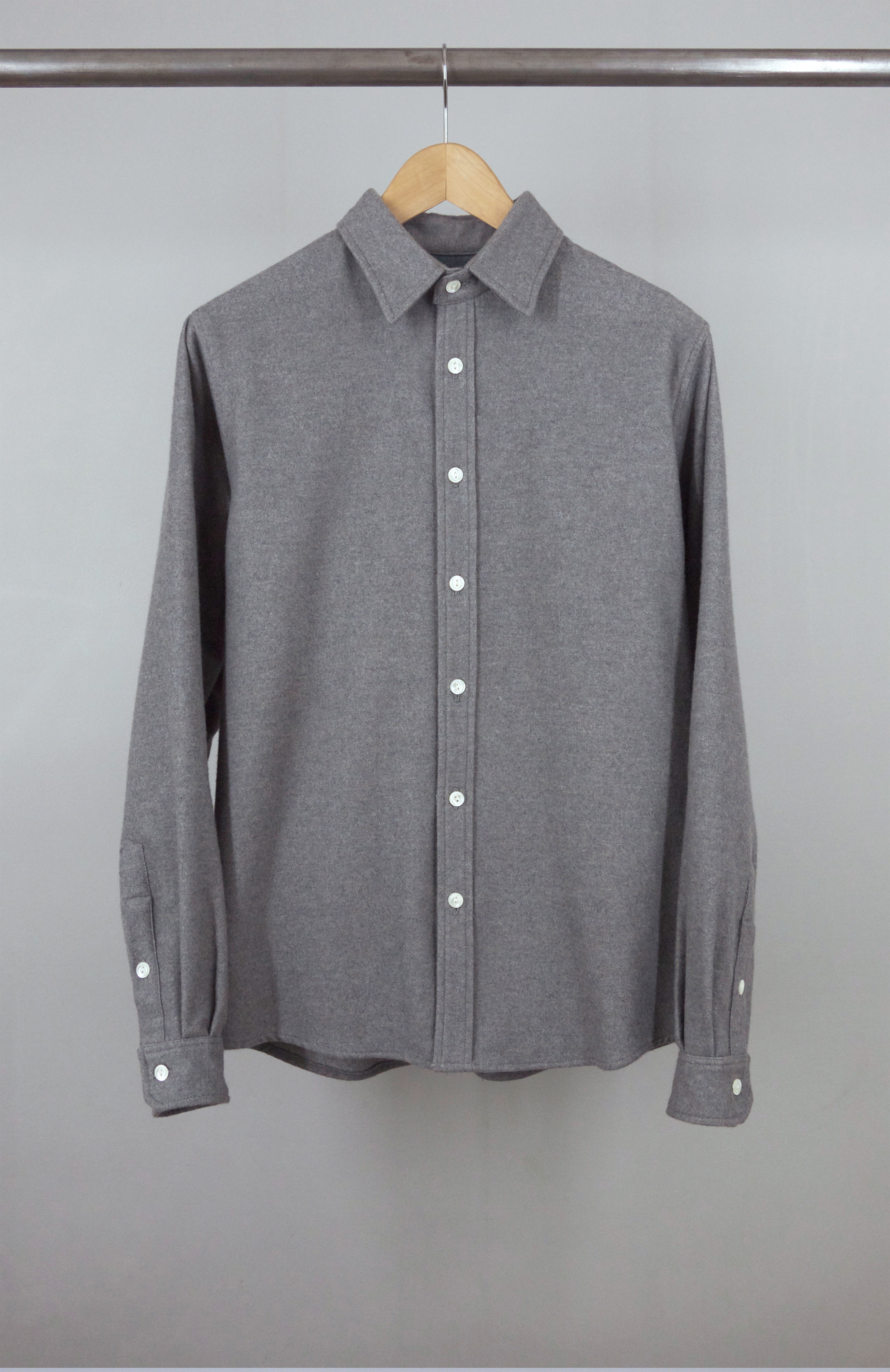 CLASSIC SHIRT GREY JAPAN FLANNEL