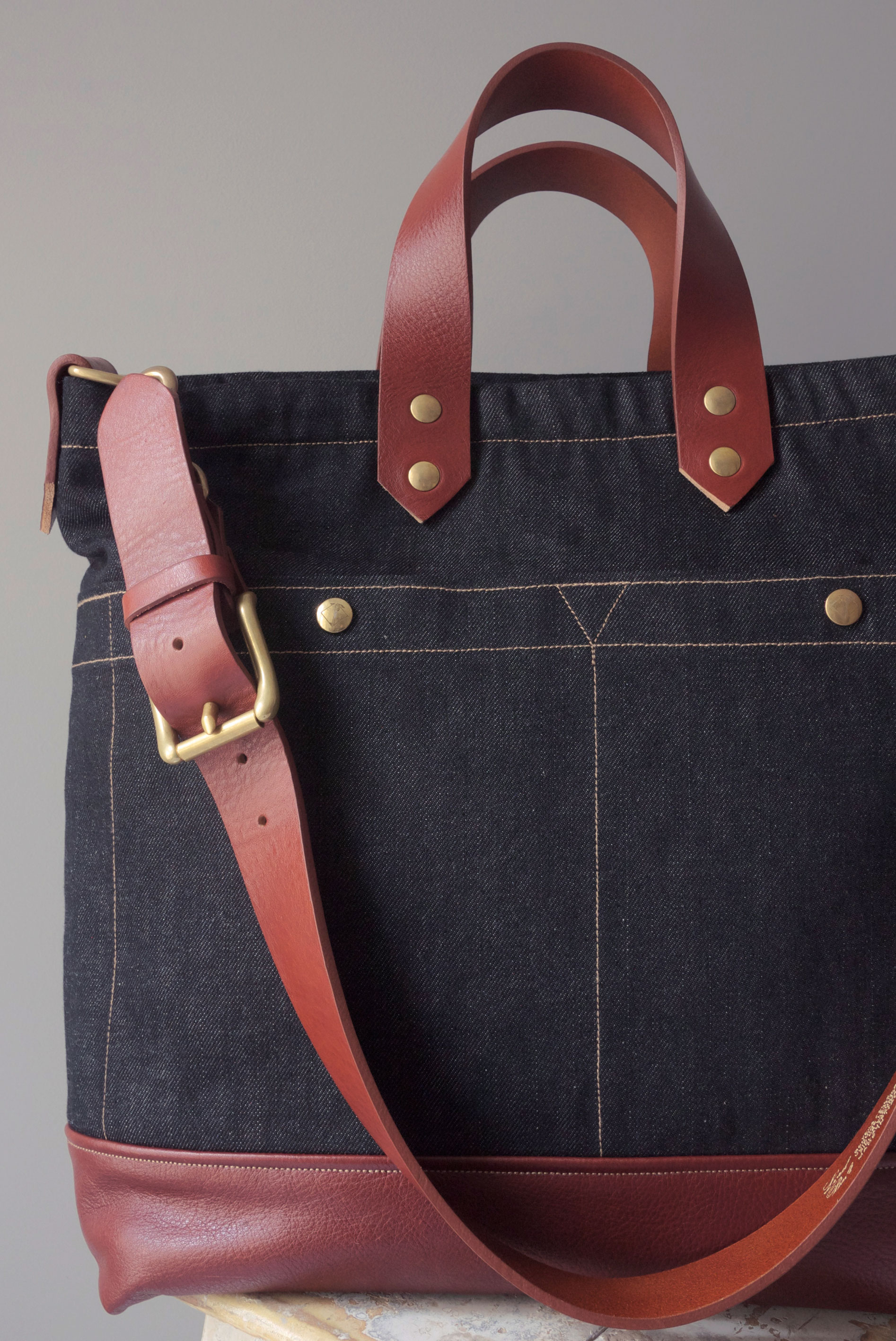 ALL DAY BAG DENIM & LEATHER