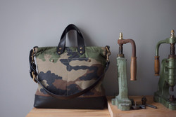 ALL DAY BAG CAMOUFLAGE & LEATHER