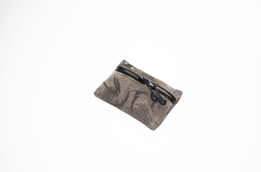 MINIMAL POCKET GREY LEATHER DPM