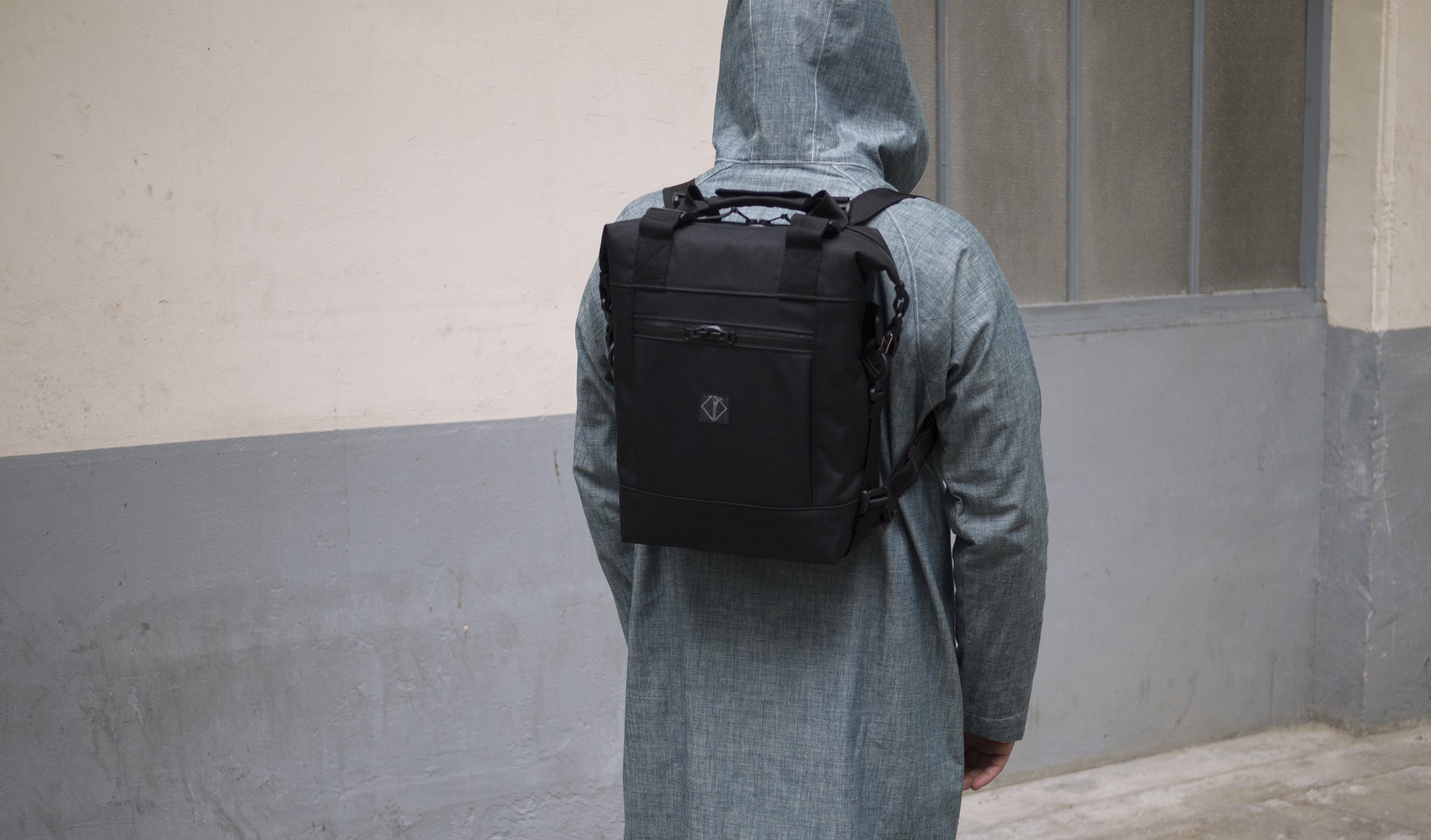 ALL DAY BAG BLACK CORDURA BACK PACK