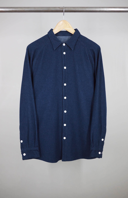 RAGLAN SHIRT BLUE JAPAN FLANNEL