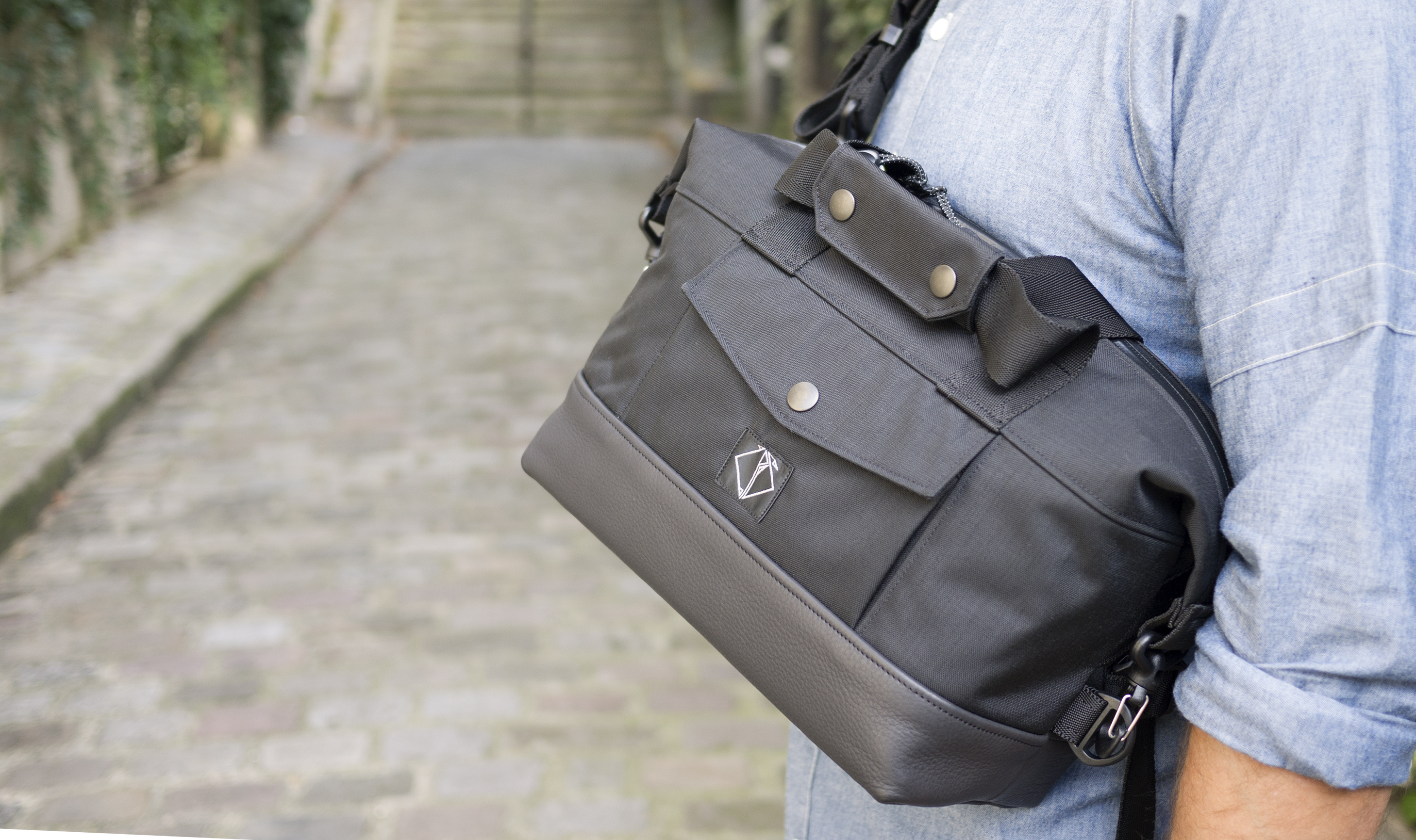 SMALL RIDER BAG LEATHER & CORDURA