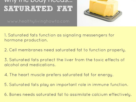 Saturated Fats, Trans Fats and Refined Carbohydrates. (aka The Good, The Bad And The Ugly)