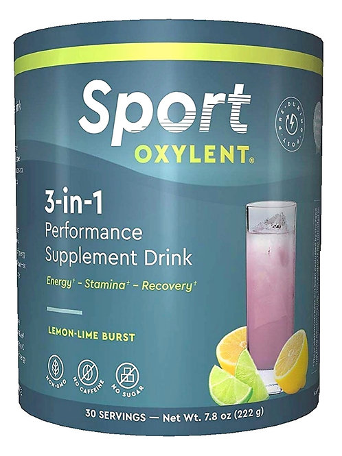 Oxylent Sport 3-in-1 Performance Supplement Drink - Sugar-Free, Natural Energy