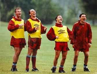 Behind the scenes at England training camp - Alan Shearer, David Platt, Denis Wise, Peter Beardsley