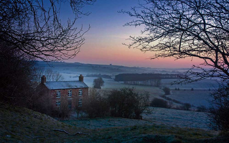 Frosty morning in the Lincolnshire Wolds