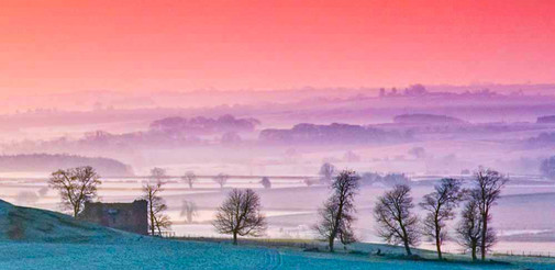 Winterdawn in the Lincolnshire Wolds