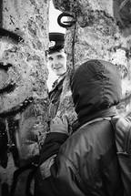 East German border guard, Berlin, November 1989