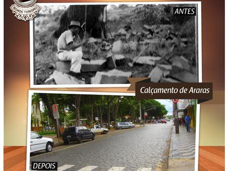 Pavimentação das ruas com paralelepípedos de Araras