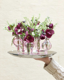 centres-de-tables-mariage-hellebores Marlies Fleurs fleuriste Nimes
