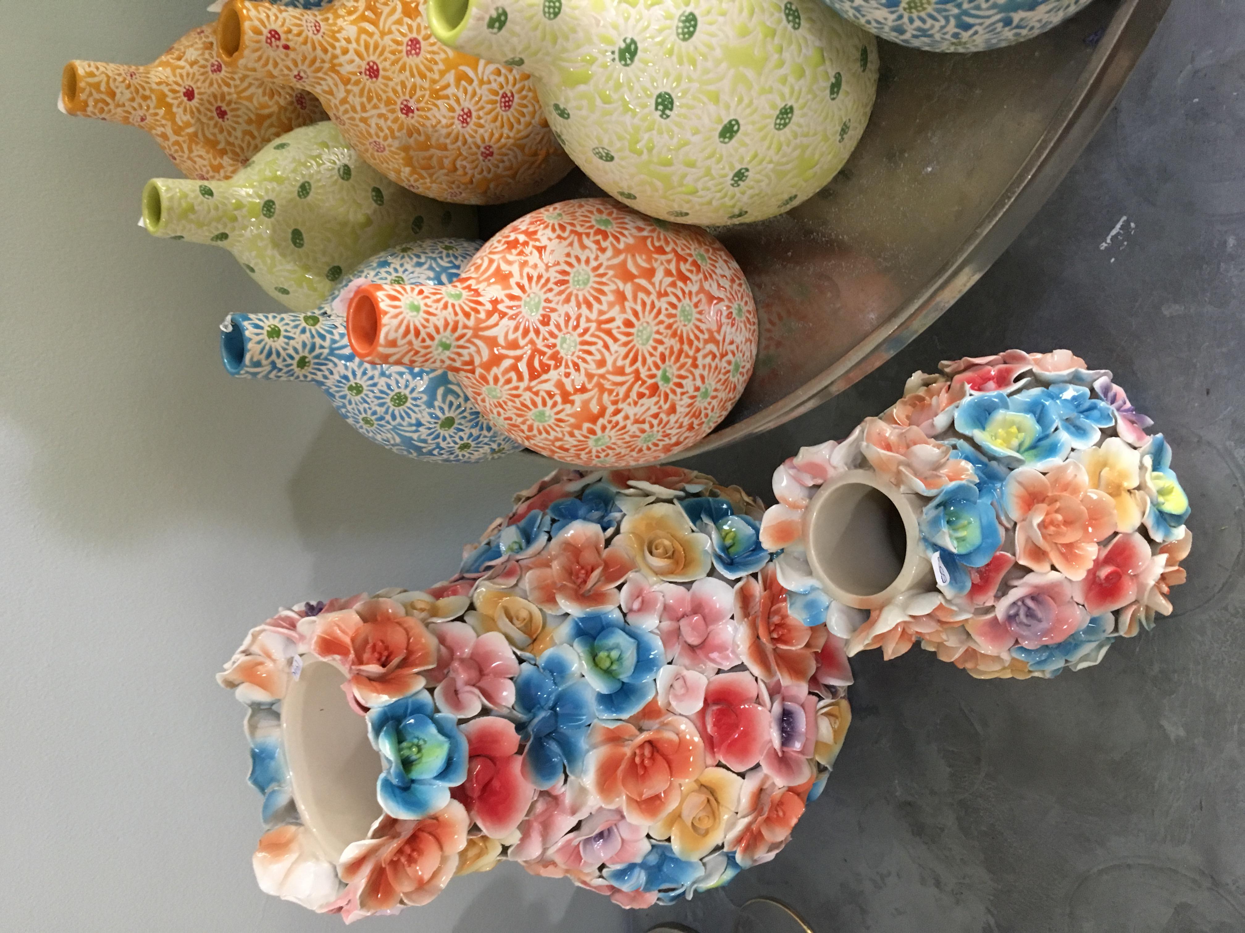 Vase fleurs coloré Marlies Fleurs fleuriste Nimes