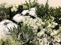 Table Lisianthus hortensia veronique wax