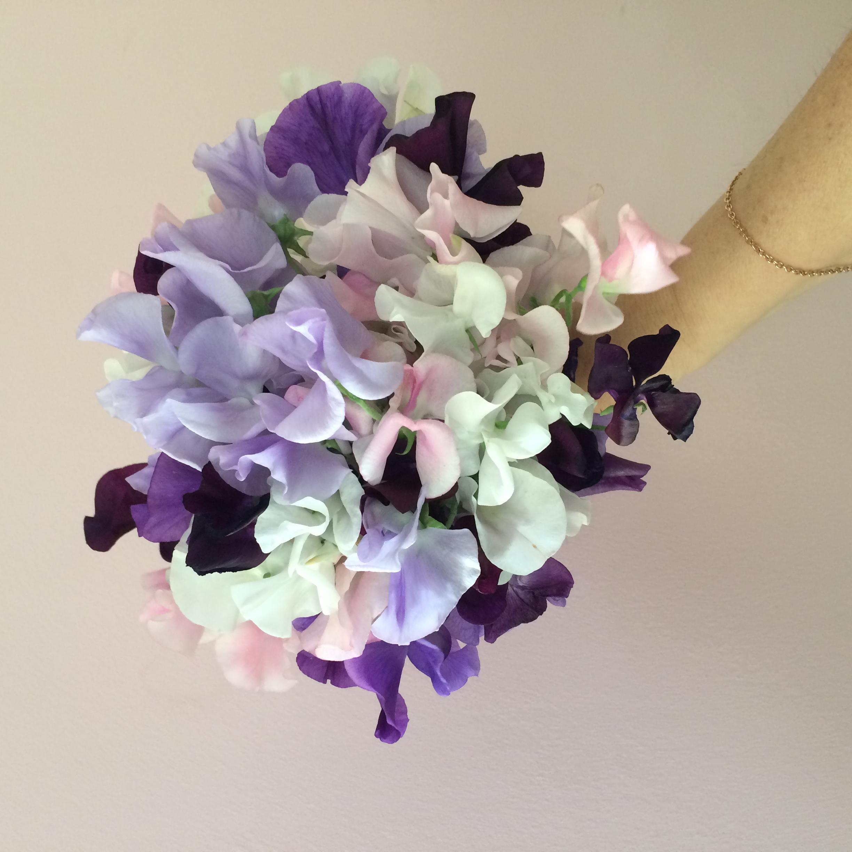Bouquet de mariée pois de senteur Bouque