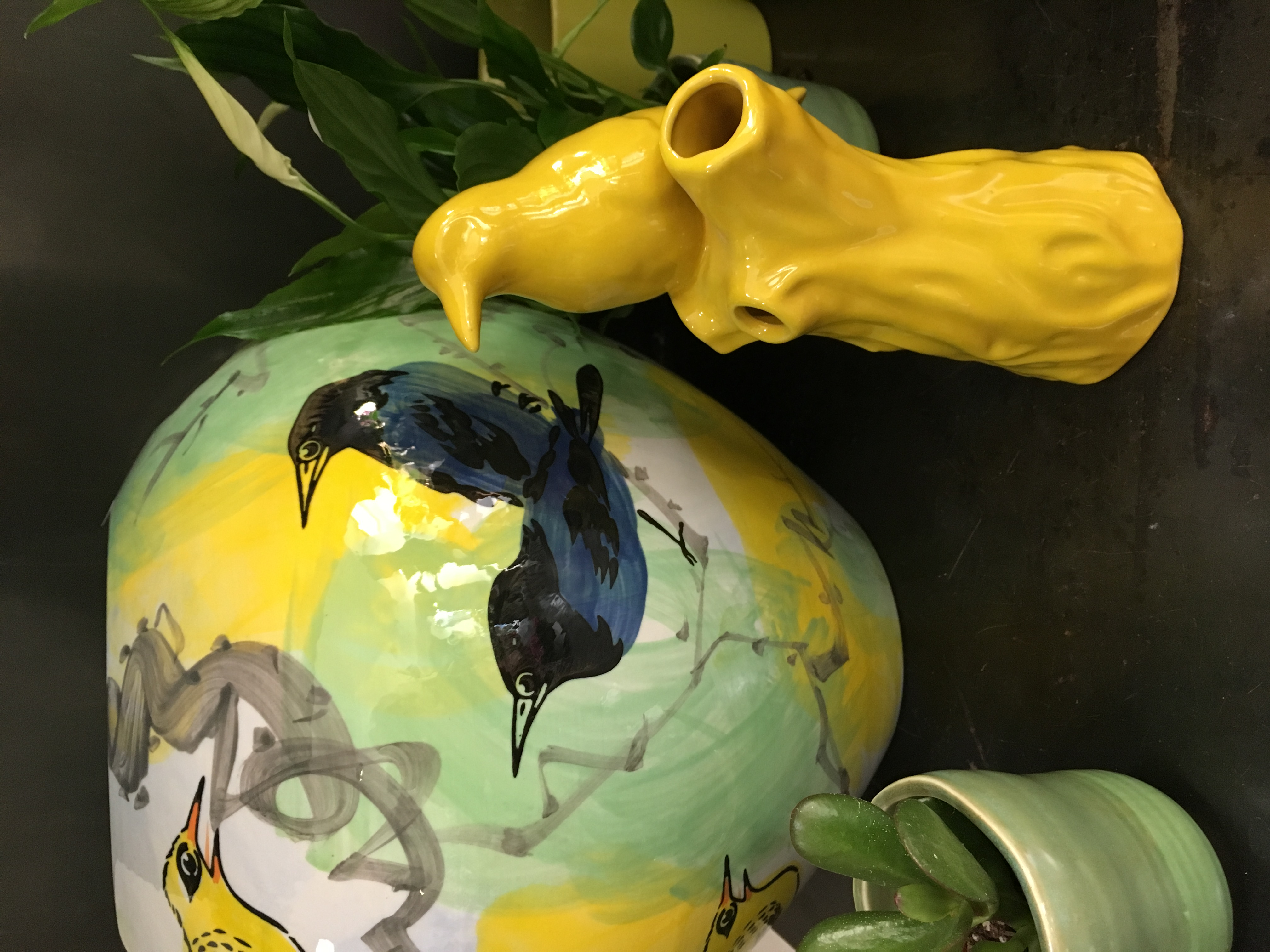 Vases verre oiseaux Marlies Fleurs fleuriste Nimes