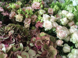 Table hortensias roses Marlies Fleurs fl