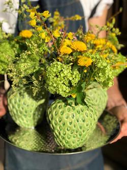Vases fraise verts Marlies Fleurs fleuri
