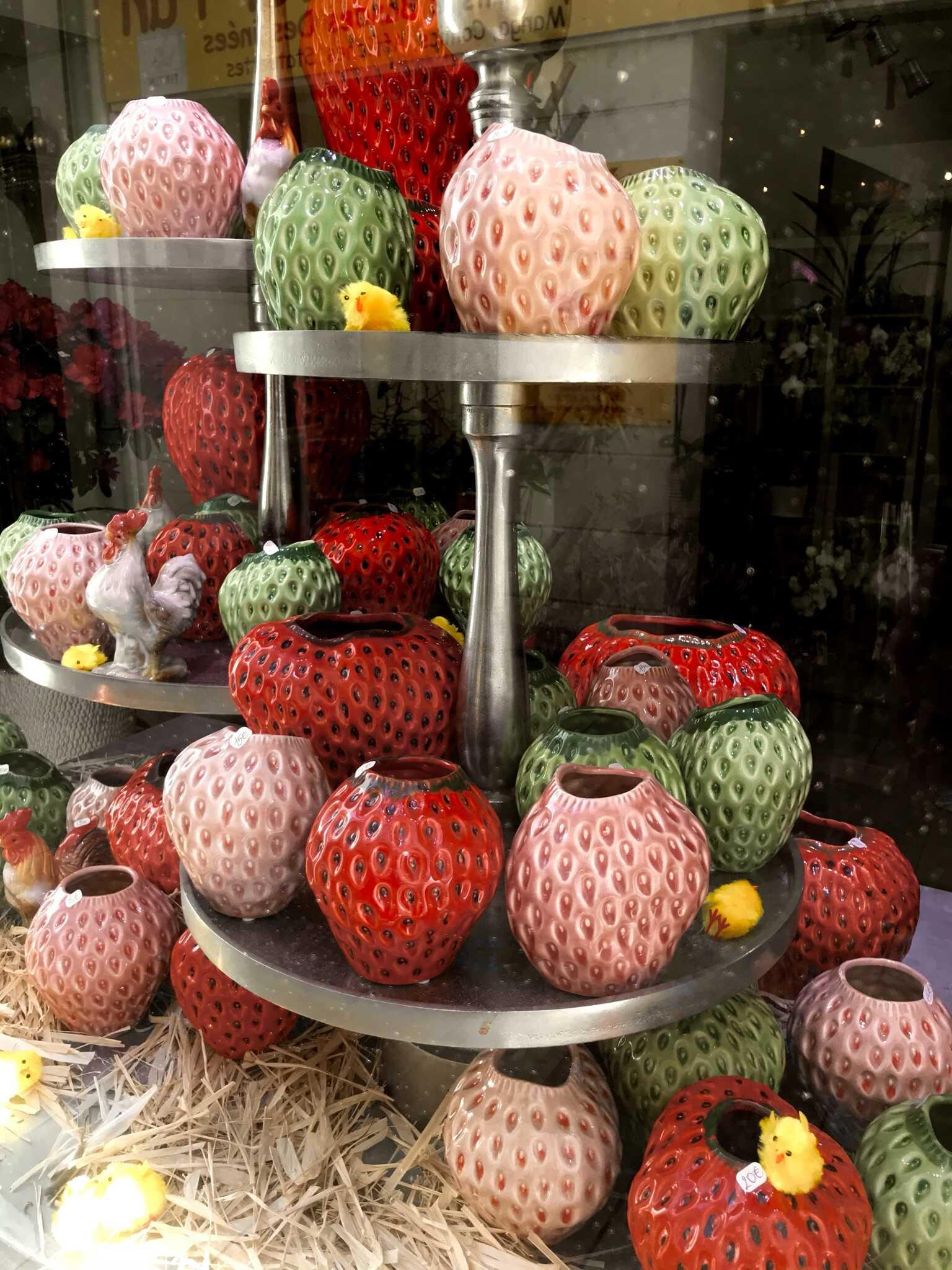 Pots fraises Marlies Fleurs fleuriste Ni