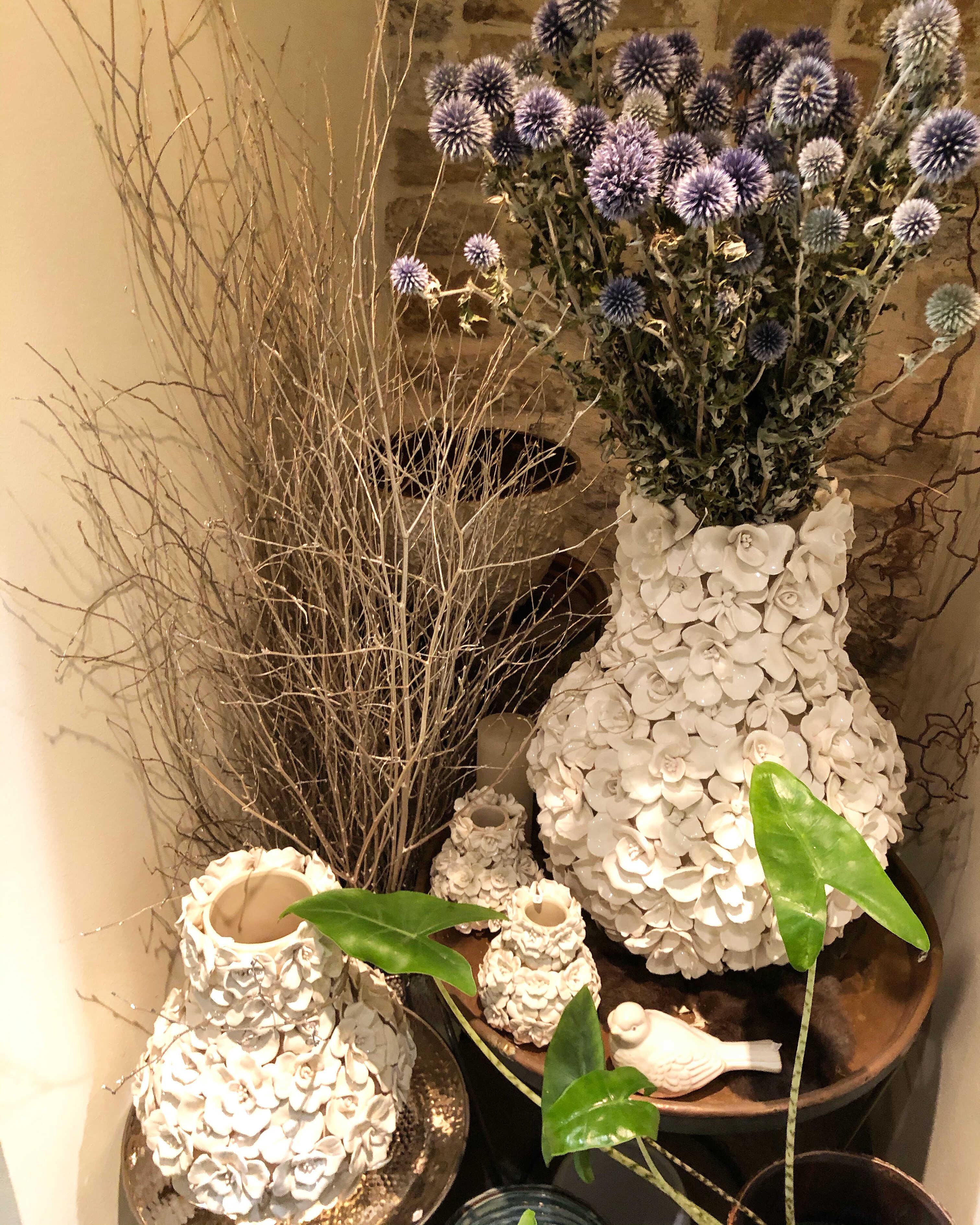 vases fleurs blancs Marlies Fleurs fleuriste Nimes