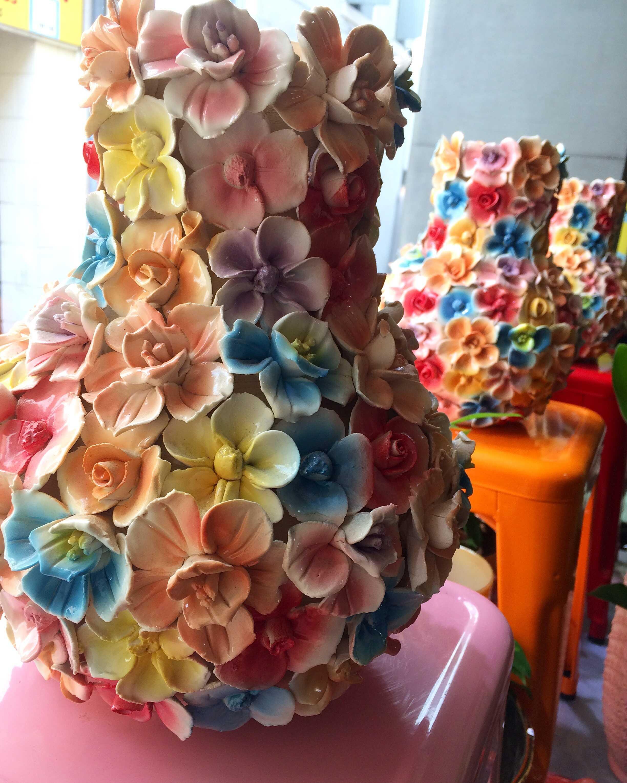vases fleurs colores Marlies Fleurs fleuriste Nimes
