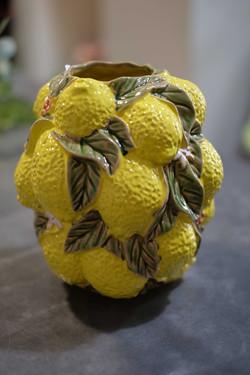 Vase citrons Marlies Fleurs fleuriste Ni