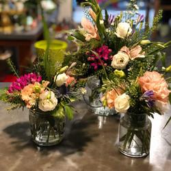 centre-de-table-mariage-champetre-coloré Marlies Fleurs fleuriste Nimes