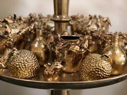 Assortiment de pots dorés Marlies Fleurs fleuriste Nimes