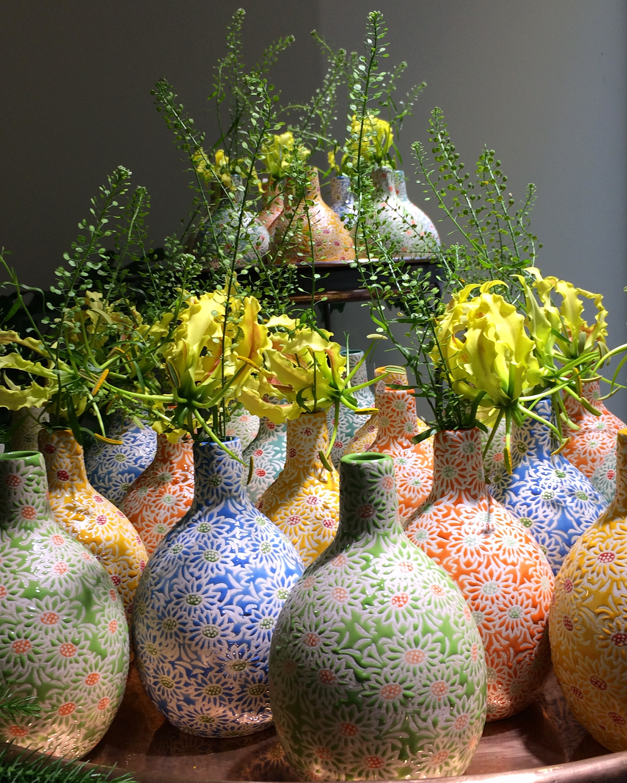 Soliflores ceramique Marlies Fleurs fleuriste Nimes