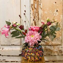 Vase hortensia Marlies Fleurs fleuriste Nimes