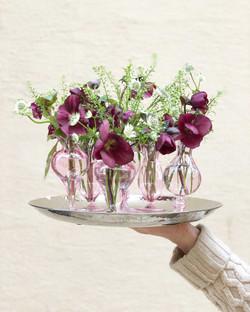 soliflores vases verre Marlies Fleurs fleuriste Nimes