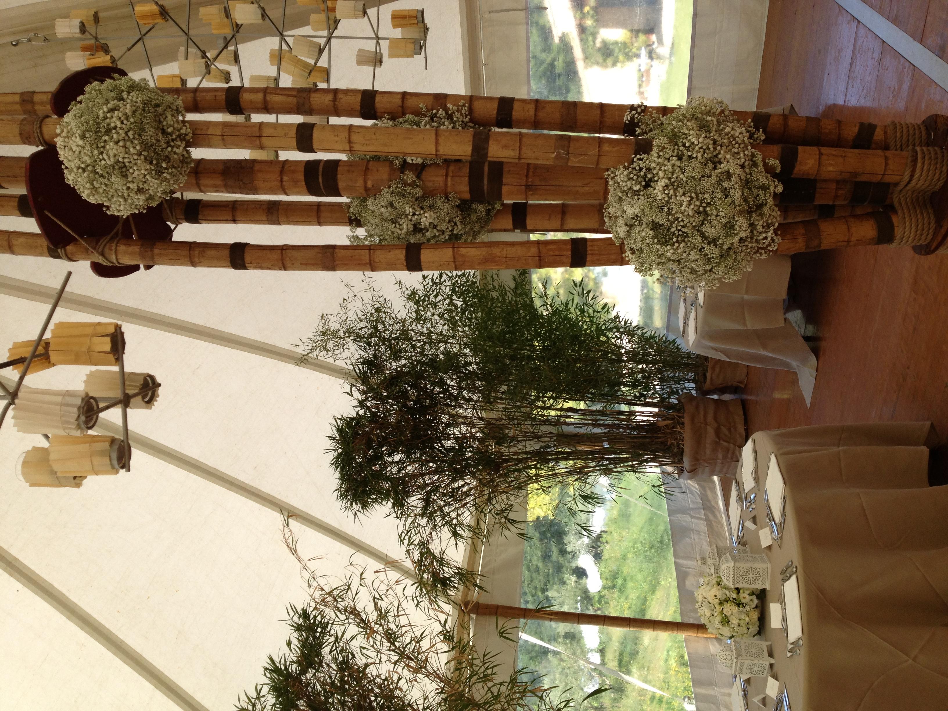Décoration salle gypsophile Marlies Fleurs fleuriste Nimes