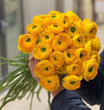 Bouquet renoncules jaunes